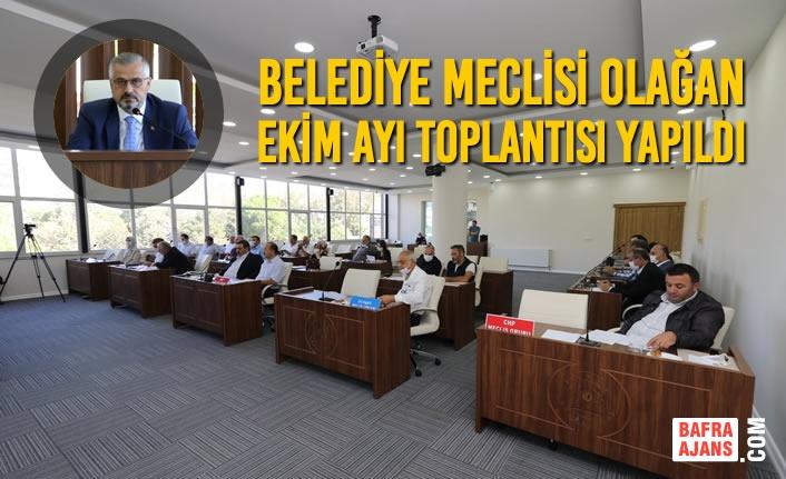 Belediye Meclisi Olağan Ekim Ayı Toplantısı Yapıldı