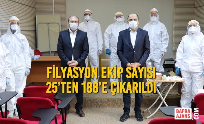 Samsun'da Filyasyon Ekip Sayısı 25'ten 188'e Çıkarıldı