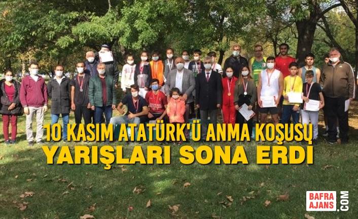10 Kasım Atatürk'ü Anma Koşusu Yarışları Sona Erdi