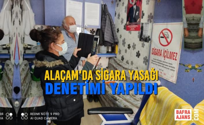 Alaçam'da Sigara Yasağı Denetimi Yapıldı