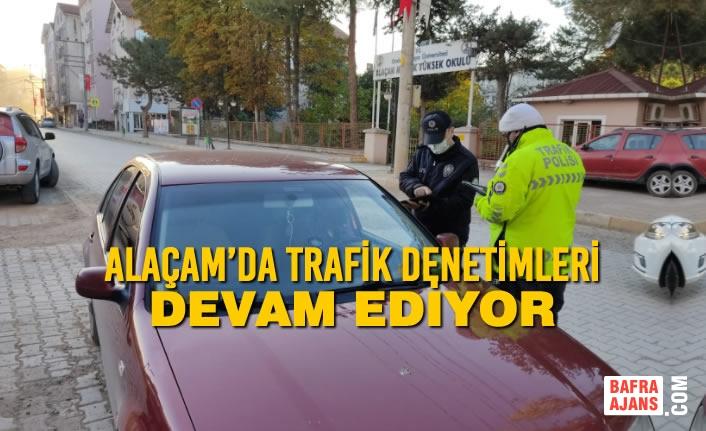 Alaçam'da Trafik Denetimleri Sürüyor