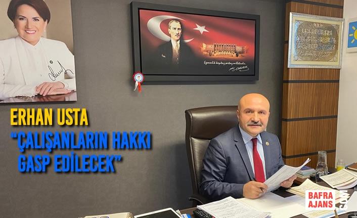 """Erhan Usta """"''İşsizliği Sadece Kağıt Üzerinde Düşürecekler"""""""