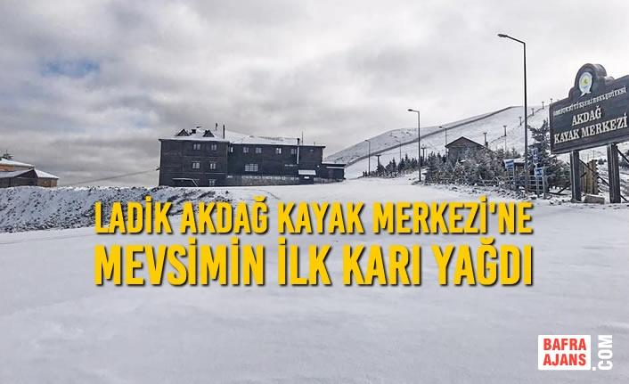 Ladik Akdağ Kayak Merkezi'ne Mevsimin İlk Karı Yağdı