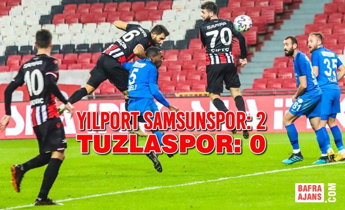 Yılport Samsunspor: 2, Tuzlaspor: 0