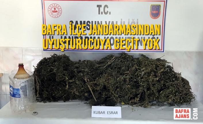 Bafra İlçe Jandarmasından Uyuşturucuya Geçit Yok