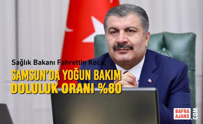 """Bakan Koca; """"Samsun'da Yoğun Bakım Doluluk Oranı %80"""""""