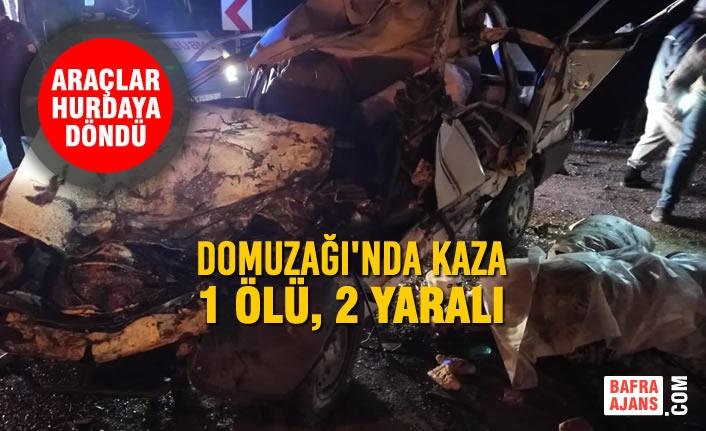 Domuzağı'nda Kaza; 1 Ölü, 2 Yaralı