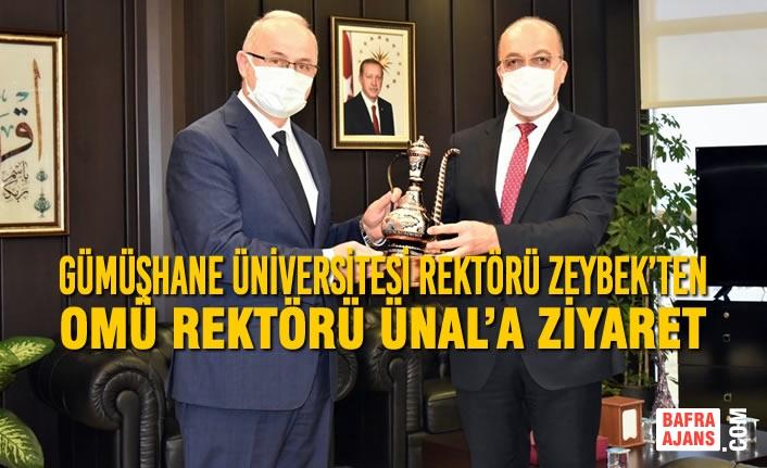 Gümüşhane Üniversitesi Rektörü Zeybek'ten OMÜ Rektörü Ünal'a Ziyaret