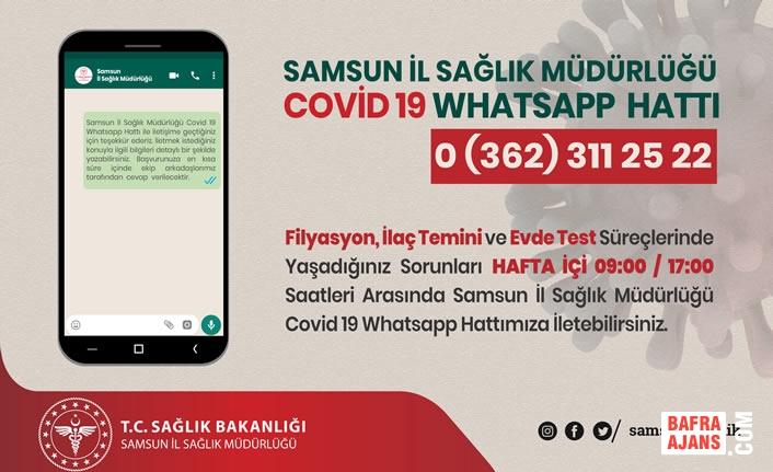 Samsun Sağlık İl Müdürlüğü Covid 19 Whatsapp Hattı Hizmete Girdi