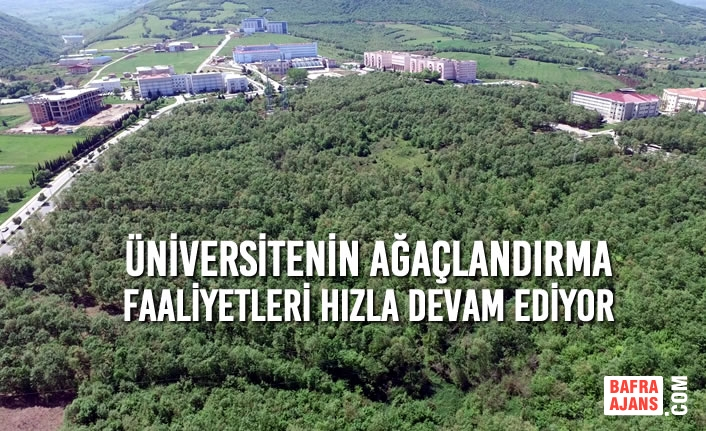 Üniversitenin Ağaçlandırma Faaliyetleri Hızla Devam Ediyor