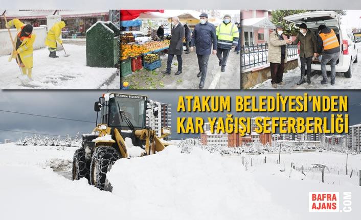 Atakum Belediyesi'nden Kar Yağışı Seferberliği
