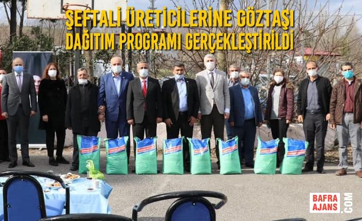 Şeftali Üreticilerine Göztaşı Dağıtım Programı Gerçekleştirildi