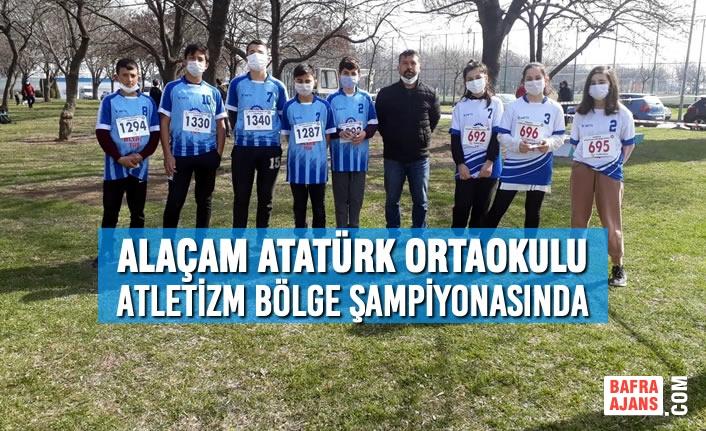 Alaçam Atatürk Ortaokulu Atletizm Bölge Şampiyonasında