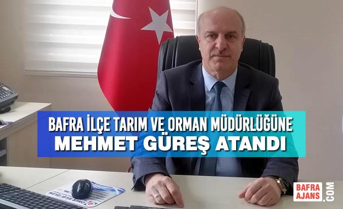 Bafra İlçe Tarım ve Orman Müdürlüğüne Mehmet Güreş Atandı