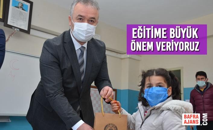 """Başkan Osman Topaloğlu; """"Eğitime Büyük Önem Veriyoruz"""""""