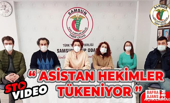 """Samsun Tabip Odası'ndan """"Asistan Hekimler Tükeniyor"""" Basın Açıklaması"""
