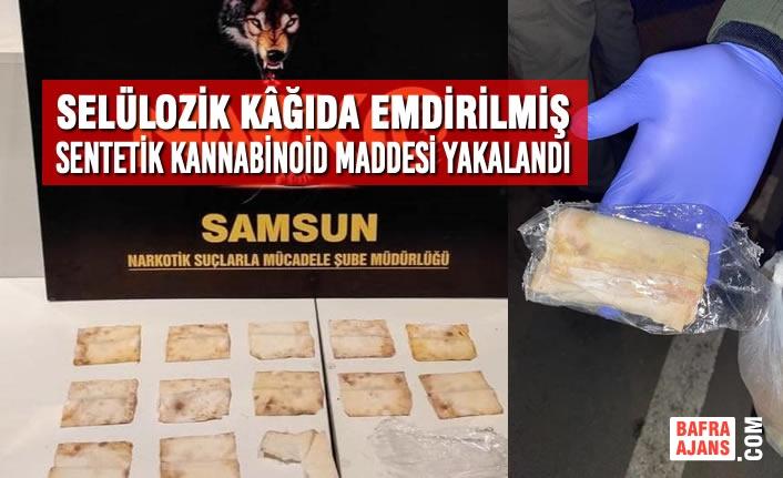 Samsun'da Sentetik Kannabinoid Maddesi Yakalandı