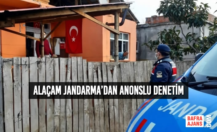 Alaçam Jandarma'dan Anonslu Denetim