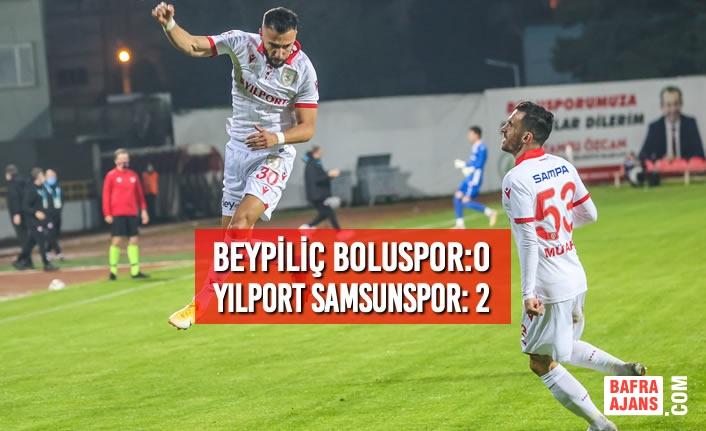 Beypiliç Boluspor:0 – Yılport Samsunspor: 2