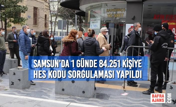 Samsun'da 1 Günde 84.251 HES Kodu Sorgulaması Yapıldı