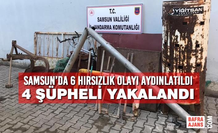Samsun'da 6 Hırsızlık Olayı Aydınlatıldı, 4 Şüpheli Yakalandı