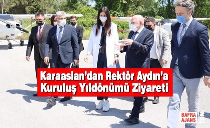 AK Parti Genel Başkan Yardımcısı Karaaslan'dan Rektör Aydın'a Kuruluş Yıldönümü Ziyareti