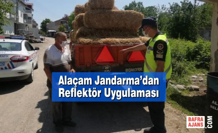 Alaçam Jandarma'dan Reflektör Uygulaması