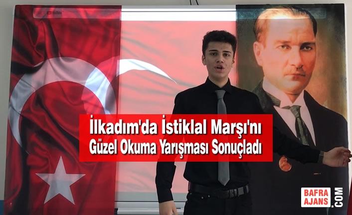 İstiklal Marşı'nı Güzel Okuma Yarışması Sonuçlandı