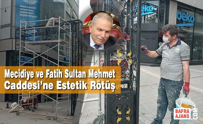 Mecidiye ve Fatih Sultan Mehmet Caddesi'ne Estetik Rötüş
