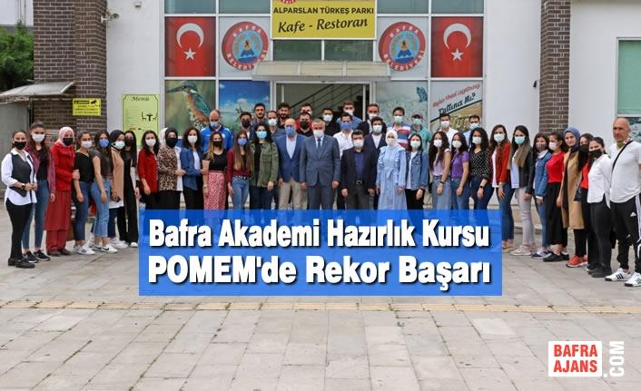 Bafra Akademi Hazırlık Kursu POMEM'de Rekor Başarı