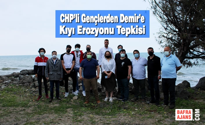 CHP'li Gençlerden Demir'e Kıyı Erozyonu Tepkisi