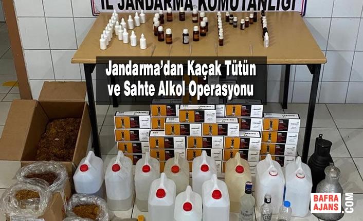 Jandarma'dan Kaçak Tütün ve Sahte Alkol Operasyonu