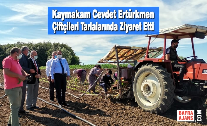 Kaymakam Cevdet Ertürkmen Çiftçileri Tarlalarında Ziyaret Etti