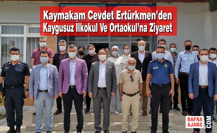 Kaymakam Cevdet Ertürkmen'den Kaygusuz İlkokul ve Ortaokul'na Ziyaret
