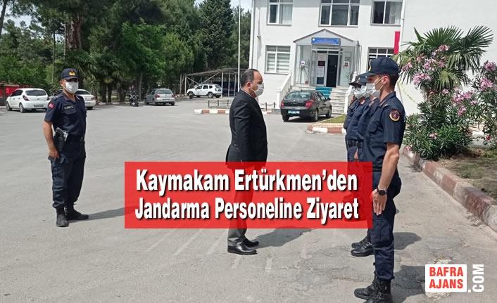 Kaymakam Ertürkmen'den Jandarma Personeline Ziyaret