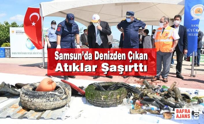 Samsun'da Denizden Çıkan Atıklar Şaşırttı