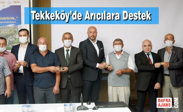 Tekkeköy'de arıcılara Saf Kafkas Damızlık Ana Arı dağıtımı gerçekleştirildi