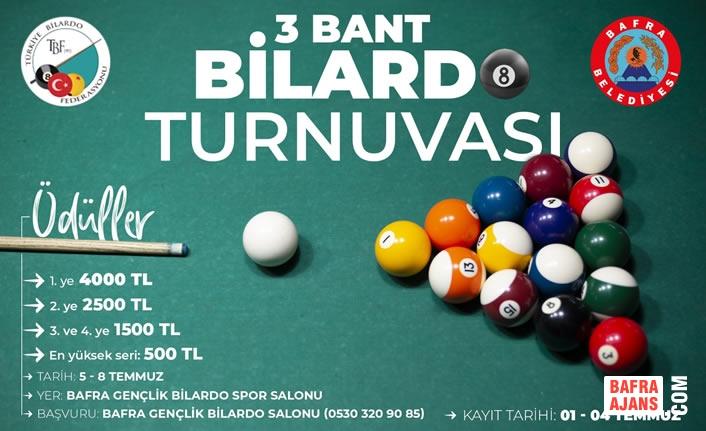 Bafra Belediyesi Bilardo Turnuvası Nefes Kesecek