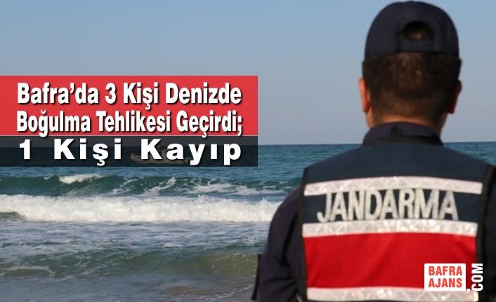 Bafra'da 3 Kişi Denizde Boğulma Tehlikesi Geçirdi; 1 Kişi Kayıp