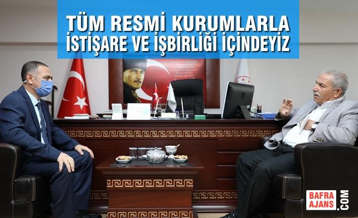 Başkan Demirtaş, Tüm Resmi Kurumlarla İstişare ve İşbirliği İçindeyiz