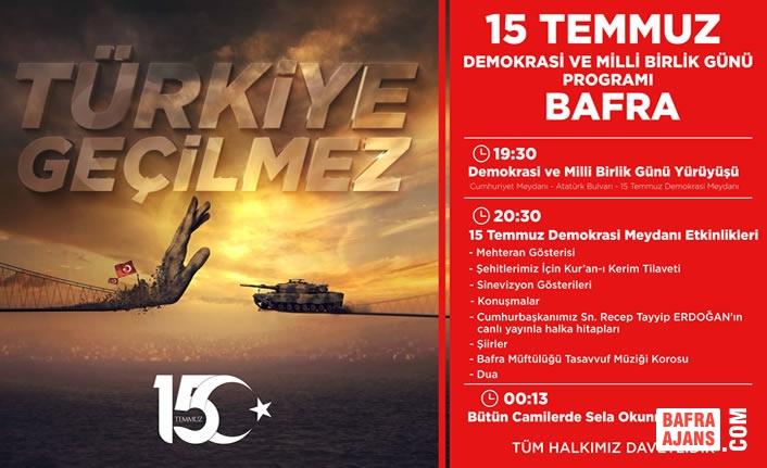 Başkan Kılıç'ın 15 Temmuz Demokrasi Ve Milli Birlik Günü Mesajı