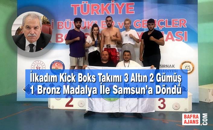 İlkadım Kick Boks Takımı 3 Altın 2 Gümüş 1 Bronz Madalya İle Samsun'a Döndü