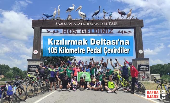 Kızılırmak Deltası'na 105 Kilometre Pedal Çevirdiler