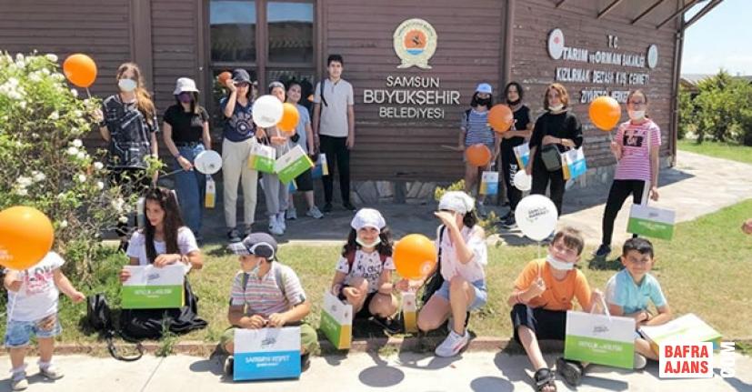Kızılırmak Deltası'nda Öğrencilere 'Doğa Yürüyüşü'
