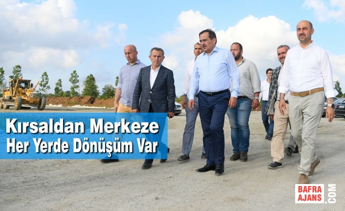 Şehrin Dört Bir Yanında Yatırımlar Sürüyor, Samsun Kabuk Değiştiriyor