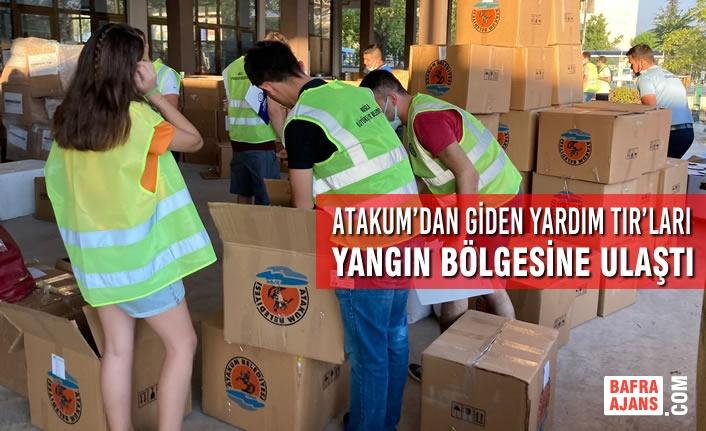 Atakum'dan Giden Yardım TIR'ları Yangın Bölgesine Ulaştı
