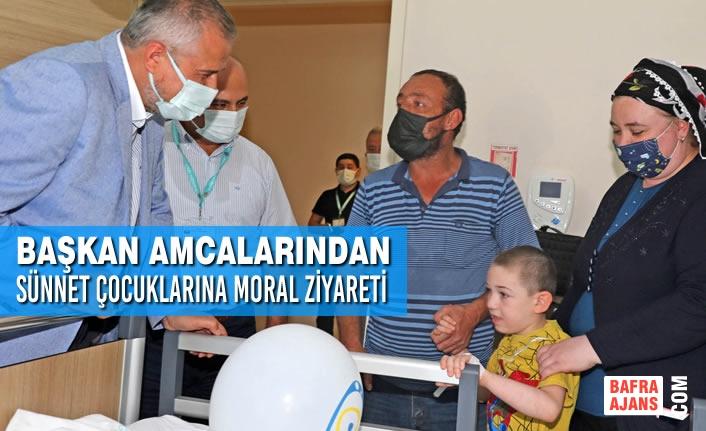 Başkan Amcalarından Sünnet Çocuklarına Moral Ziyareti