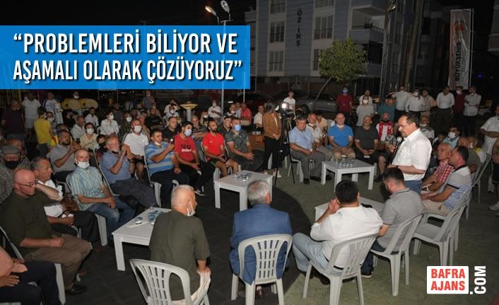 """Başkan Demir; """"Problemleri biliyor ve aşamalı olarak çözüyoruz"""""""
