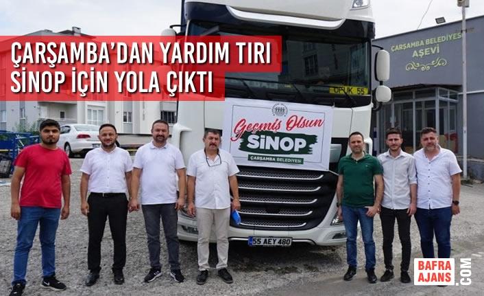Çarşamba'dan Yardım Tırı Sinop İçin Yola Çıktı