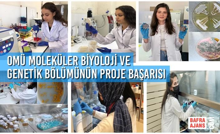 OMÜ Moleküler Biyoloji ve Genetik Bölümü Öğrencilerinin Proje Başarısı